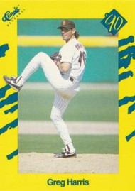 1990 Classic Yellow #13 Greg Harris VG San Diego Padres