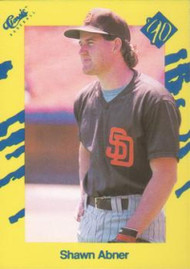 1990 Classic Yellow #20 Shawn Abner VG San Diego Padres