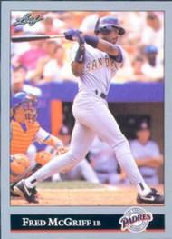 1992 Leaf #274 Fred McGriff VG San Diego Padres
