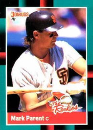1988 Donruss Rookies #8 Mark Parent VG RC Rookie San Diego Padres