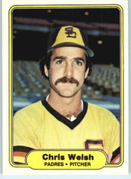1982 Fleer #584 Chris Welsh VG San Diego Padres