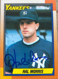 Hal Morris Autographed 1990 Topps #236