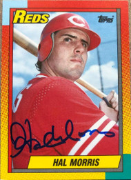 Hal Morris Autographed 1990 Topps Traded #76T