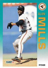 1992 Fleer Update #2 Alan Mills NM-MT  Baltimore Orioles