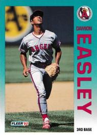 1992 Fleer Update #9 Damion Easley NM-MT  RC Rookie California Angels