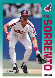 1992 Fleer Update #18 Paul Sorrento NM-MT  Cleveland Indians