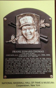 Frank Thomas Stamped and Canceled Hall of Fame Gold Plaque Postcard