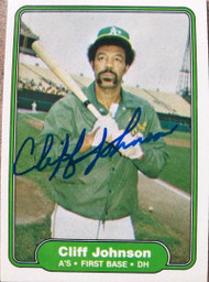 Cliff Johnson Autographed 1982 Fleer #93