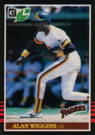 1985 Donruss/Leaf #68 Alan Wiggins VG San Diego Padres