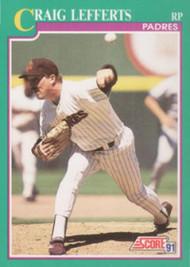 1991 Score #184 Craig Lefferts VG San Diego Padres