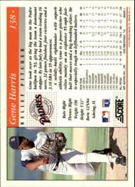 1994 Score #138 Gene Harris VG San Diego Padres