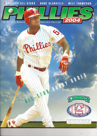 Bobby Abreu 2004 Philadelphia Phillies Magazine Program
