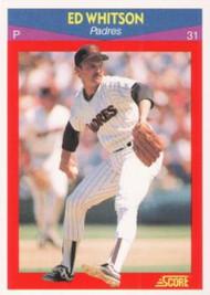 1990 Score 100 Superstars #69 Ed Whitson VG San Diego Padres
