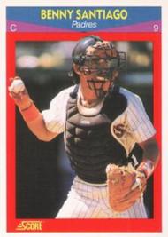 1990 Score 100 Superstars #63 Benito Santiago VG San Diego Padres
