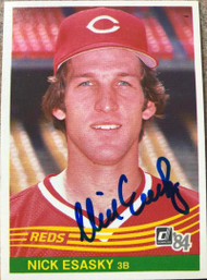 Nick Esasky Autographed 1984 Donruss #602 Rookie Card