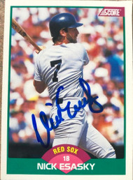 Nick Esasky Autographed 1989 Score Rookie/Traded  #37T