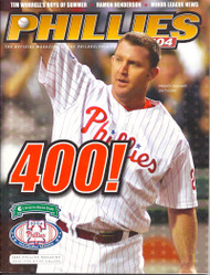 Jim Thome 2004 Philadelphia Phillies Magazine Program