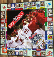 2008 Phillies Monopoly Collectors Edition Board Game Signed by 32 Players and Coaches