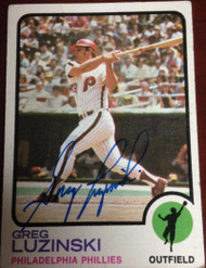 SOLD 3000 Greg Luzinski Autographed 1973 Topps #189