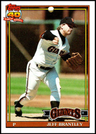 1991 Topps #17 Jeff Brantley VG San Francisco Giants