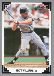 1991 Leaf #93 Matt Williams VG San Francisco Giants