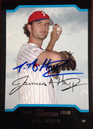 JA Happ Autographed 2004 Bowman Draft Picks & Prospects #BDP77