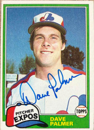 David Palmer Autographed 1981 Topps #607