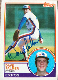 David Palmer Autographed 1983 Topps #164