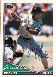 Jerald Clark Autographed 1994 Topps #77