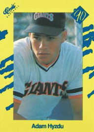 1990 Classic Yellow #90 Adam Hyzdu VG San Francisco Giants
