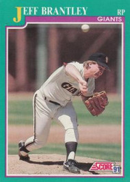 1991 Score #160 Jeff Brantley VG San Francisco Giants