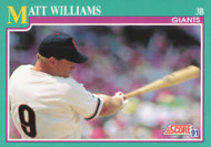 1991 Score #189 Matt Williams VG San Francisco Giants