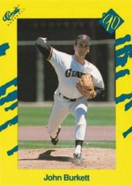1990 Classic Yellow #6 John Burkett VG San Francisco Giants