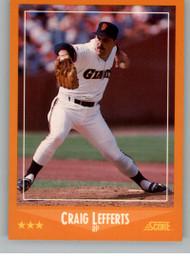 1988 Score #553 Craig Lefferts VG San Francisco Giants
