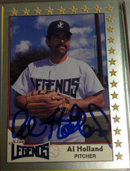 Al Holland Autographed 1990 Pacific Senior Professional Baseball League #114