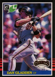 1985 Donruss/Leaf #30 Dan Gladden VG San Francisco Giants