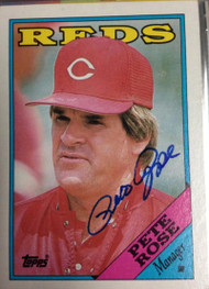 Pete Rose Autographed 1988 Topps #475