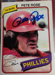 Pete Rose Autographed 1980 Topps Burger King #4