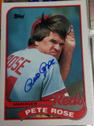 Pete Rose Autographed 1989 Topps #505