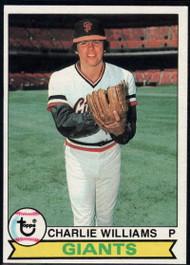 1979 Topps #142 Charlie Williams VG San Francisco Giants
