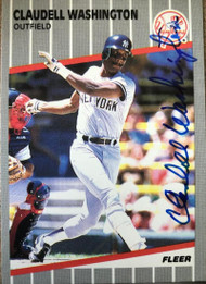 Claudell Washington Autographed 1989 Fleer #272