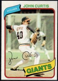 1980 Topps #12 John Curtis DP VG San Francisco Giants