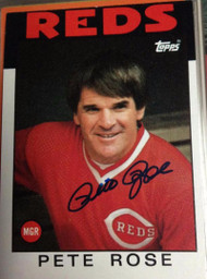 Pete Rose Autographed 1986 Topps #741