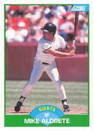 1989 Score #82 Mike Aldrete VG San Francisco Giants