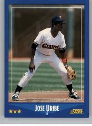 1988 Score #165 Jose Uribe VG San Francisco Giants