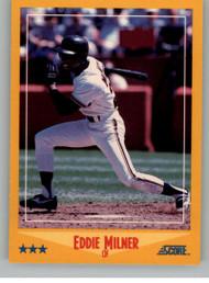 1988 Score #548 Eddie Milner VG San Francisco Giants