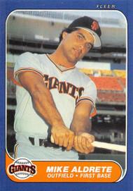 1986 Fleer Update #U-1 Mike Aldrete VG RC Rookie San Francisco Giants