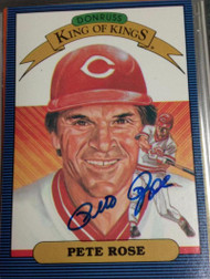 Pete Rose Autographed 1986 Donruss King of Kings #653
