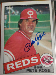 Pete Rose Autographed 1985 Topps #600
