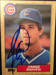 Jamie Moyer Autographed 1987 Topps #227 Rookie Card